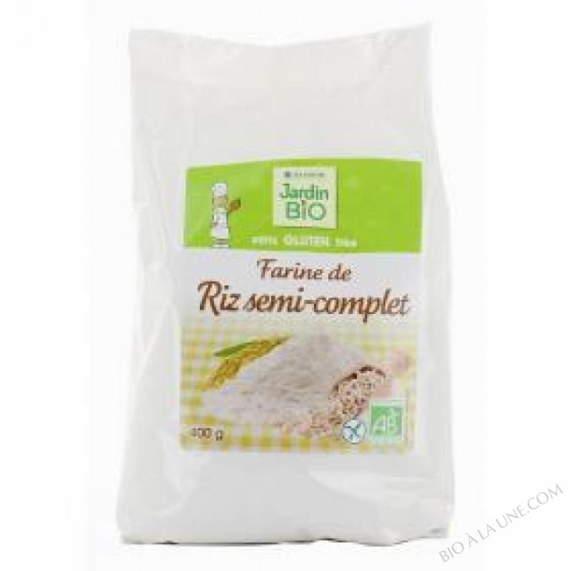 Farine de riz semi complet sans gluten 400 g