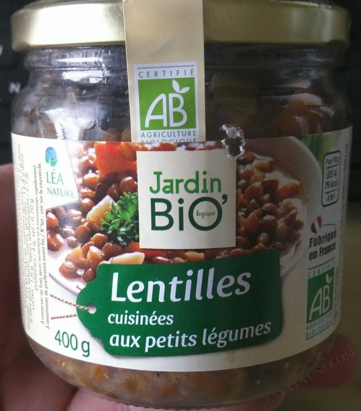 Lentilles cuisinees aux petits legumes 400gr