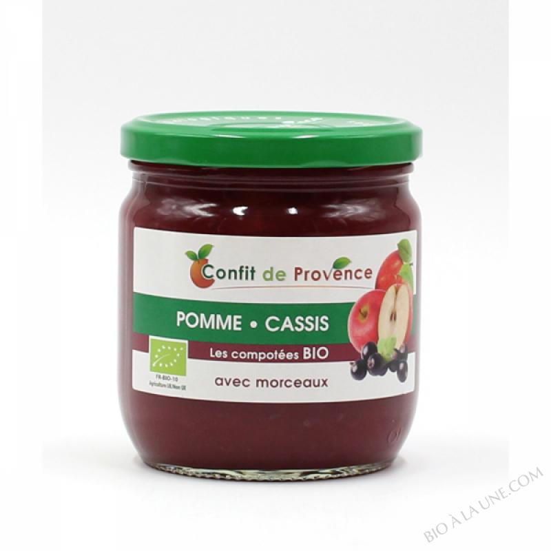 Compote Pomme Cassis avec Morceaux BIO 430g