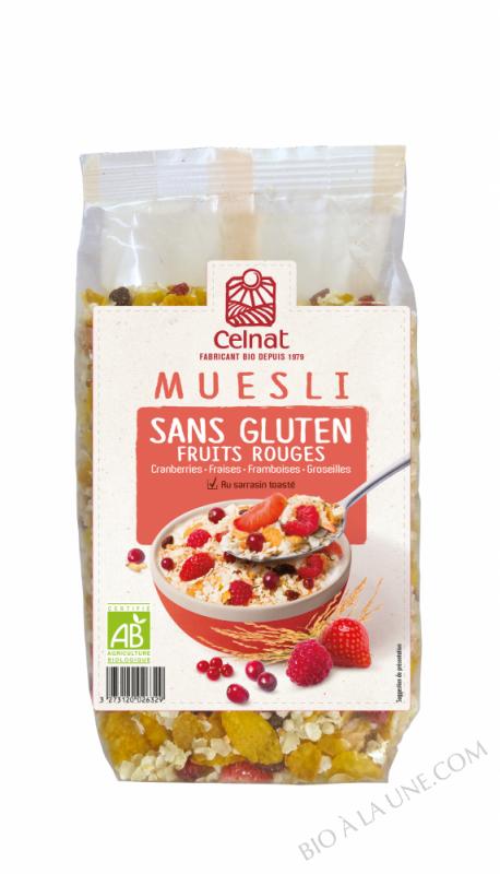 CELNAT Muesli Sans Gluten Fruits Rouges BIO - 375g