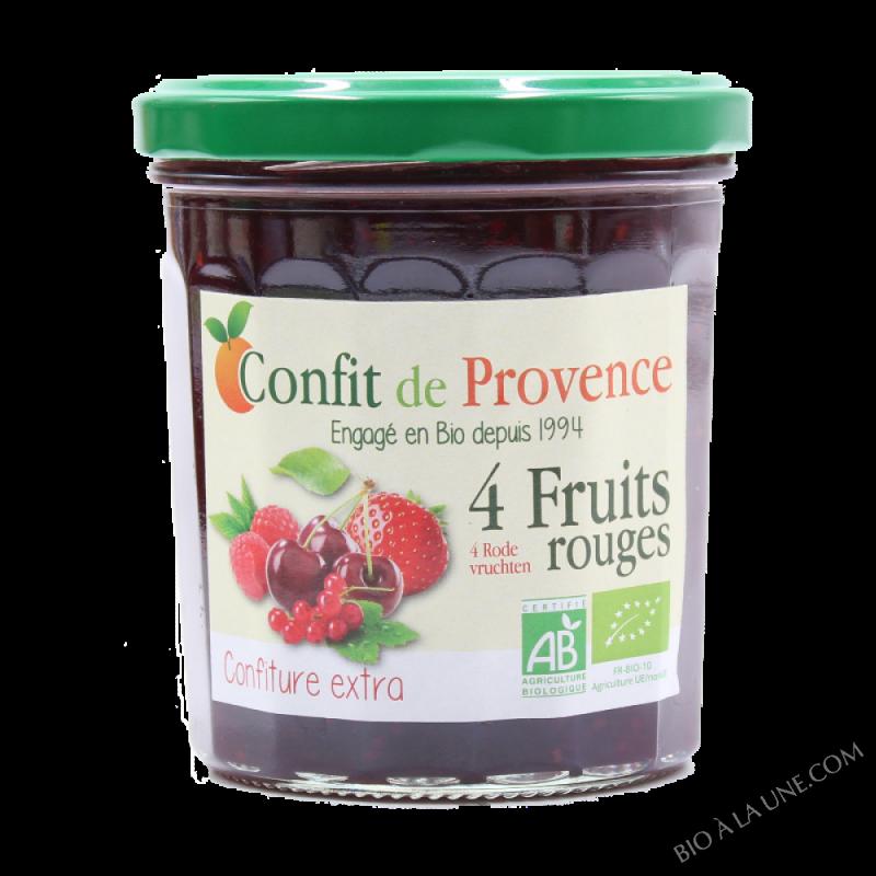 CONFITURE DE 4 FRUITS ROUGES - 370G