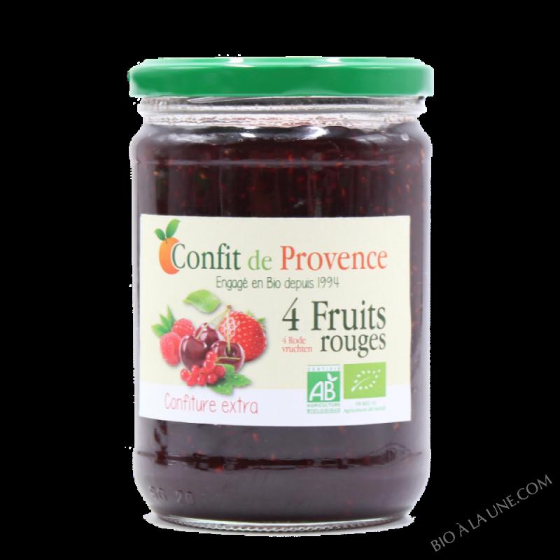 Confiture Extra 4 Fruits Rouges BIO 650g