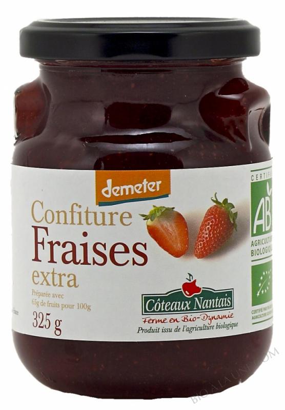 Confiture fraises extra Bio et Demeter 325g