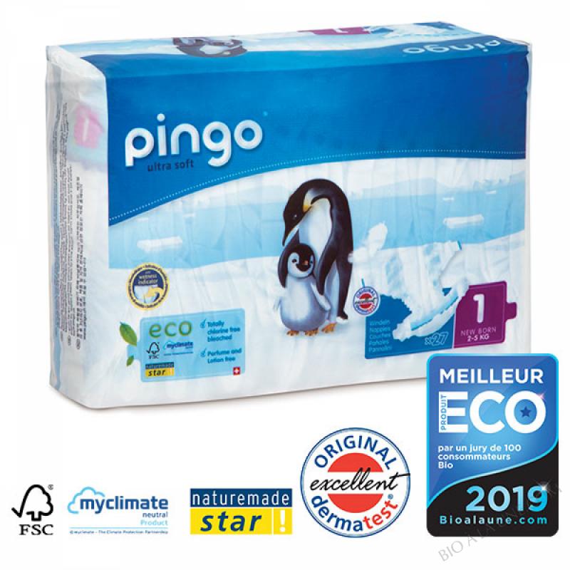 PINGO Couche Ecologique T1 NEW BORN (2-5 kg)