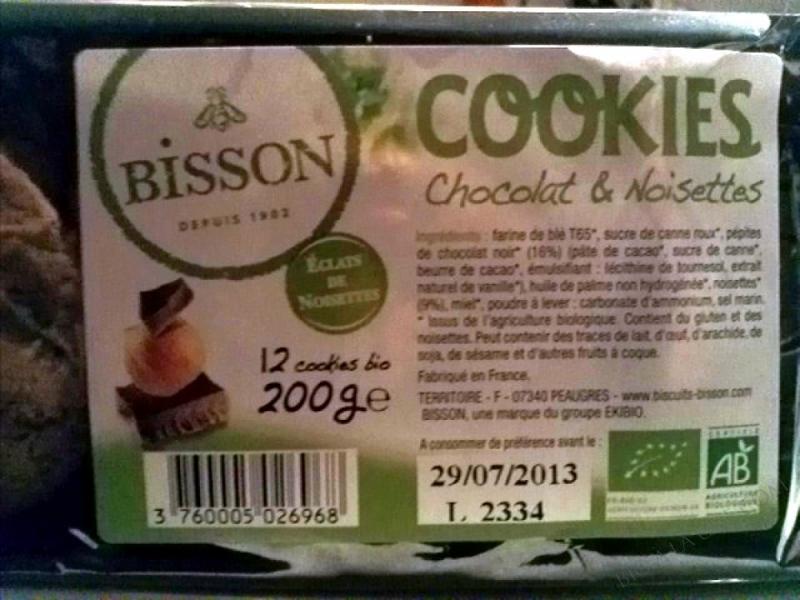 COOKIES CHOCOLAT & NOISETTES- 200 G.