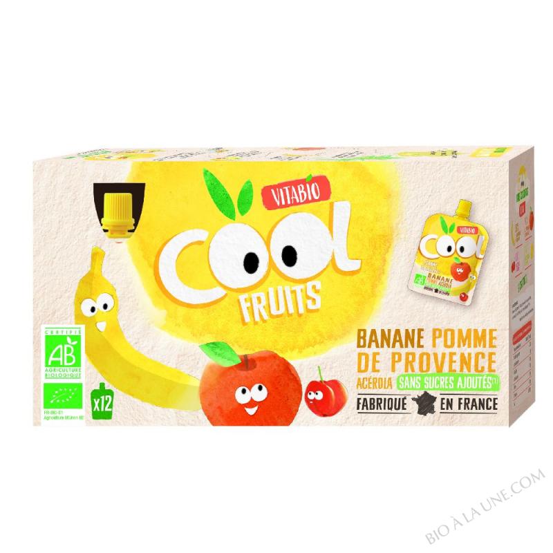Lot 12 Compotes Pomme Banane