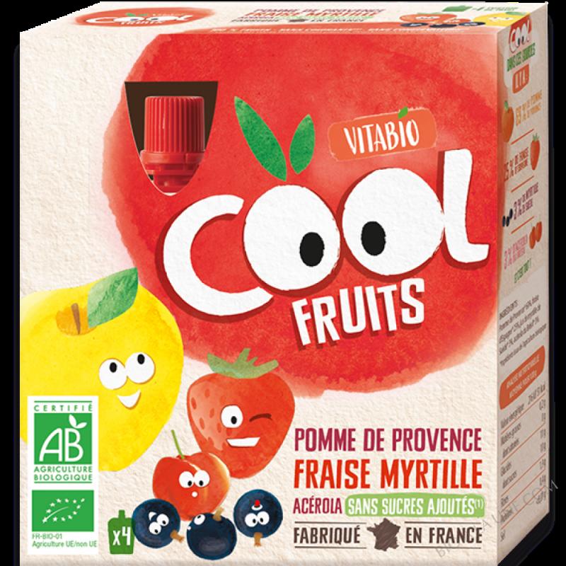 Cool Fruits - Pomme de Provence Fraise Myrtille Acérola 4x90g