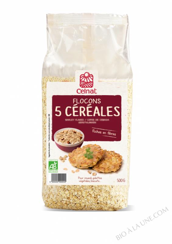 CELNAT Flocons 5 Céréales BIO - 500g