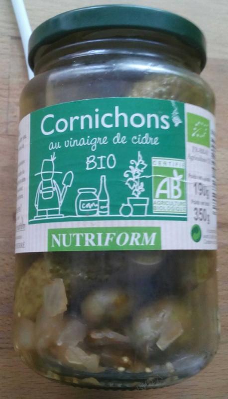 Cornichons au vinaigre de cidre bio - 660 g