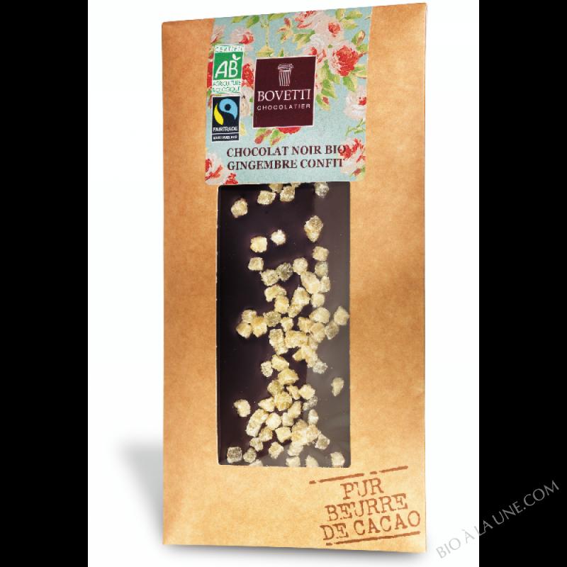 Chocolat Noir Gingembre Confit - 100G