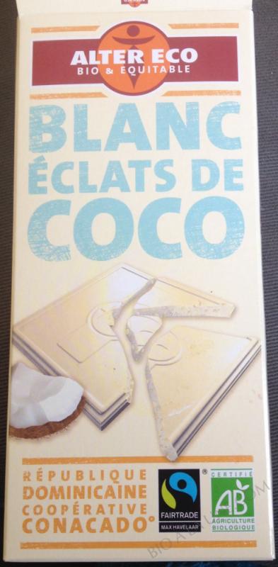 Chocolat blanc coco bio 100 g
