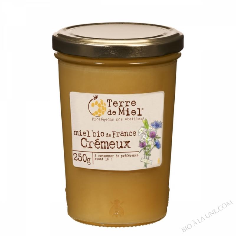 Miel toutes fleurs cremeux bio France 250g