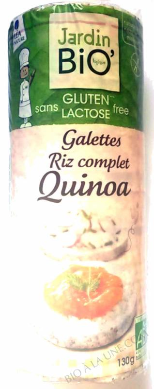 Galettes riz complet quinoa sans gluten 130gr