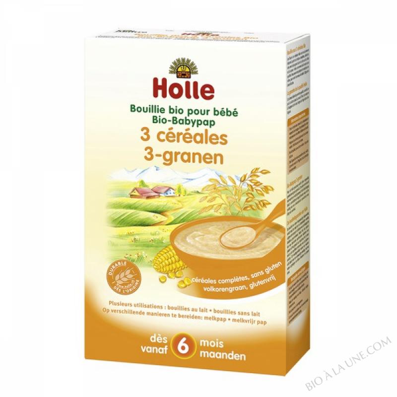 Bouillie bebe aux 3 cereales
