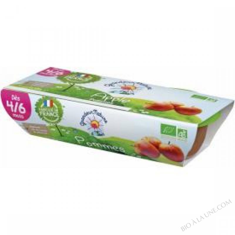 Puree de fruits pommes babyfood des 4-6 mois 2x120g