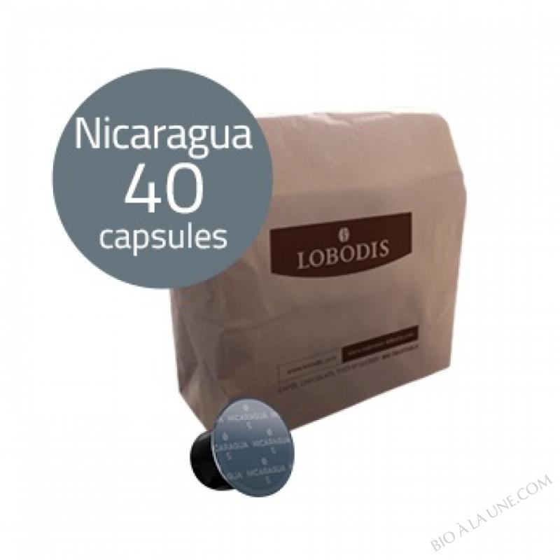 Capsules de café NICARAGUA compatibles Nespresso - Lobodis - 40 capsules