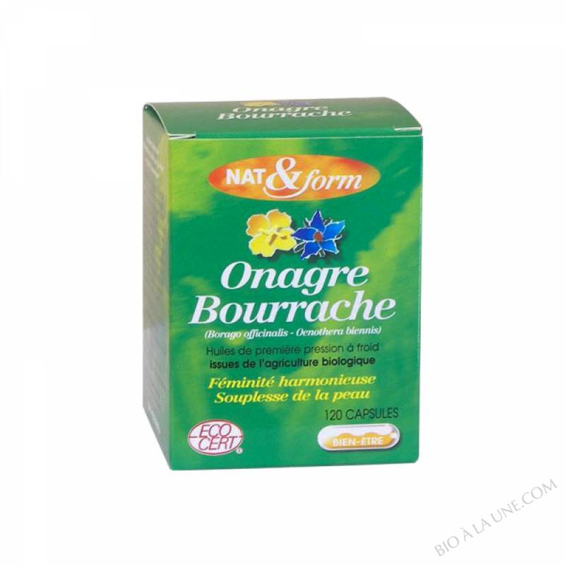 Huile Bourrache Onagre Bio Eco-responsable - 120 capsules