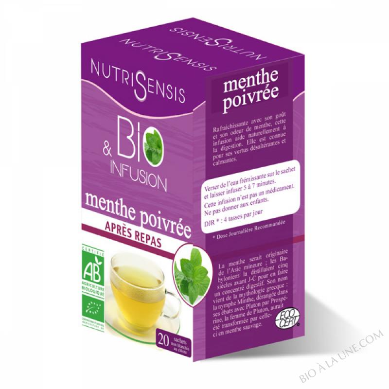 Infusion menthe poivree bio - 20 sachets