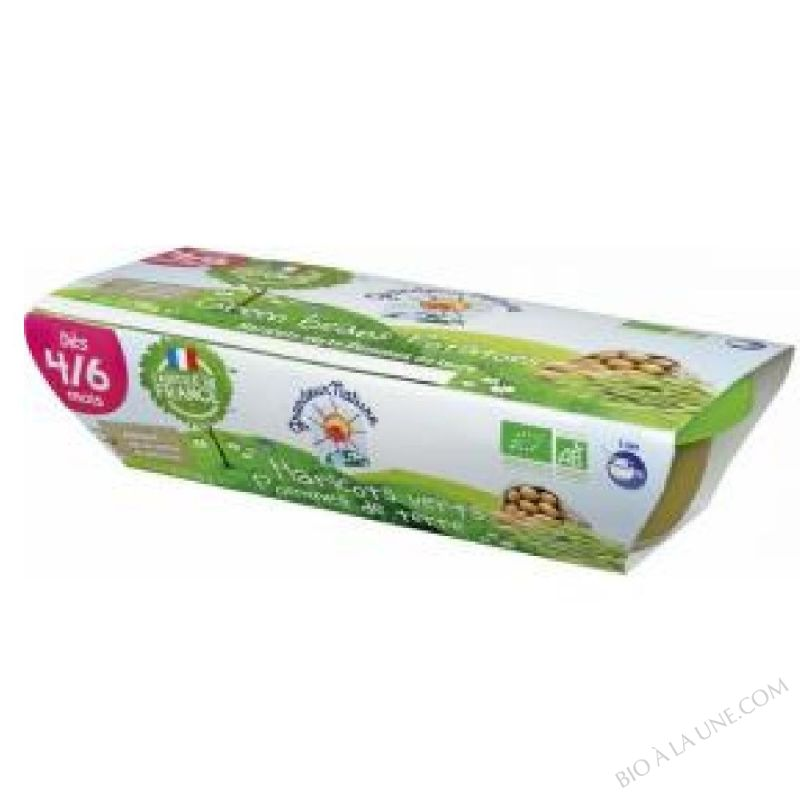 Puree haricots verts et pommes de terre des 4 mois 2x120g