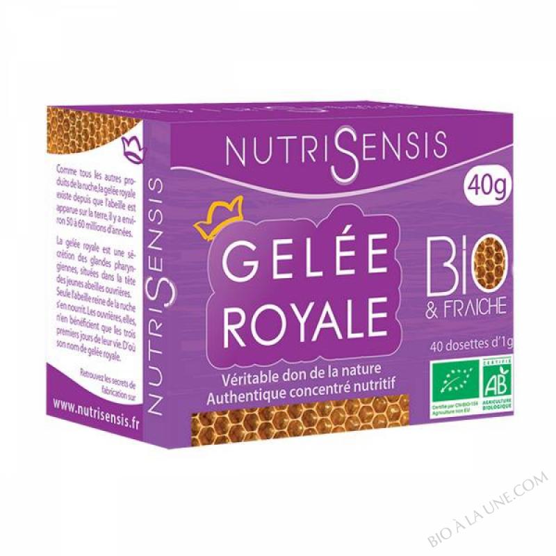 Gelée royale fraiche BIO - 40 dosettes de 1 G