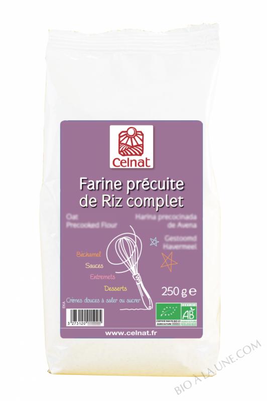CELNAT Crème de Riz complet - Farine Précuite BIO - 250g