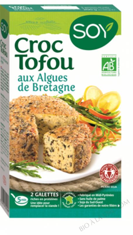 CROC TOFU AUX ALGUES DE BRETAGNE- 200 G (2 GALETTES)