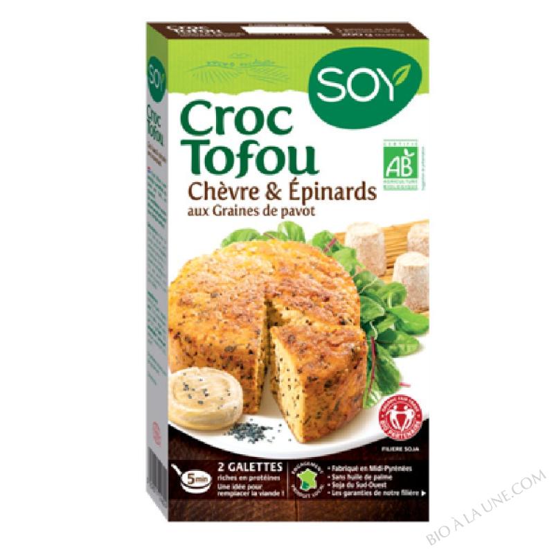 CROC TOFU CHEV/EPINARD 2X100G SOY