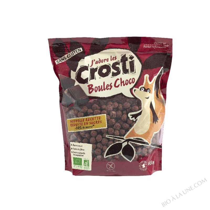 Crosti Favrichon Boules choco sans gluten Sachet refermable