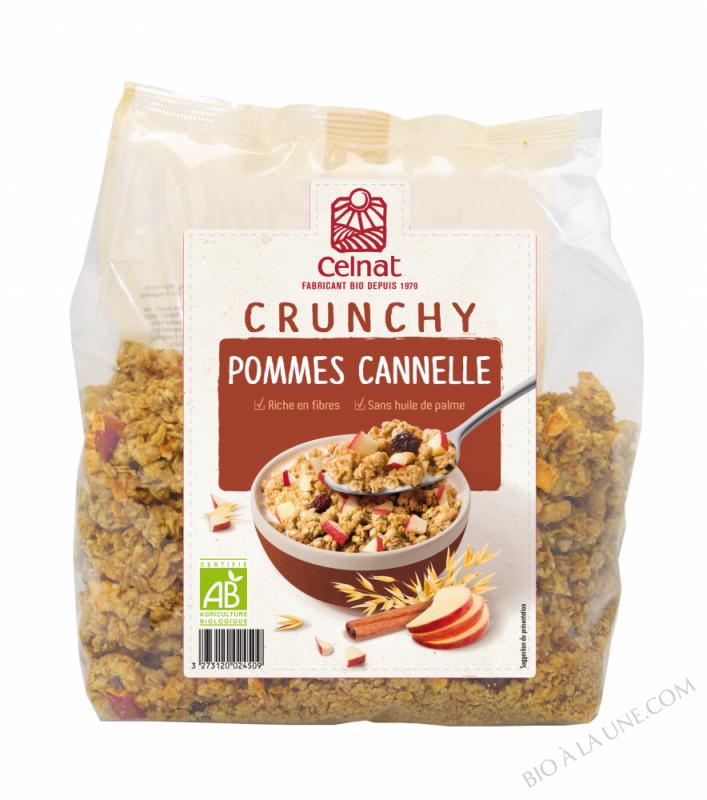 CELNAT Crunchy Pommes Cannelle BIO - 500g