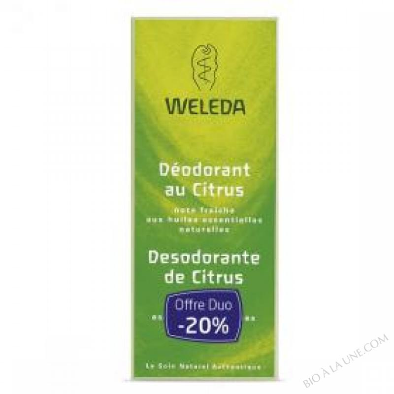 Offre Duo Deodorant au Citrus 2 x 100ml