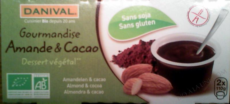 Gourmandises Amandes cacao BIO 2x110g