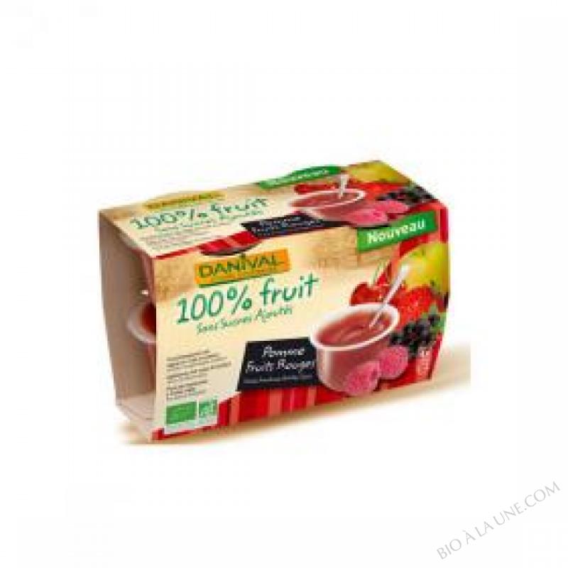 Puree Pommes fraises BIO 4 x 110g