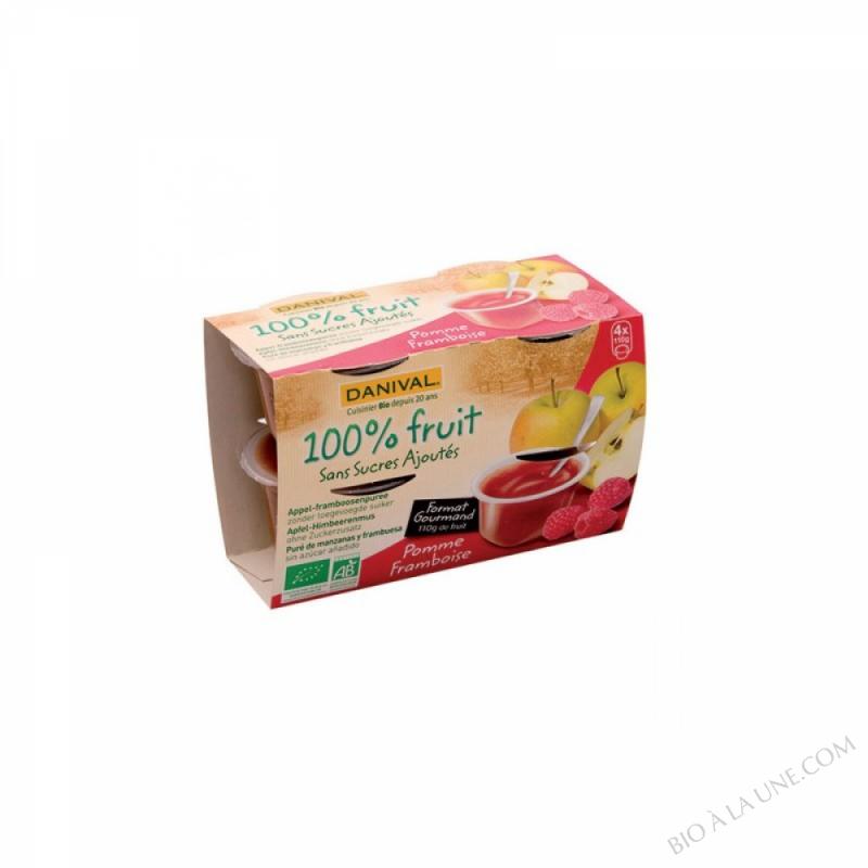 Puree Pommes framboises BIO 4 x 110g