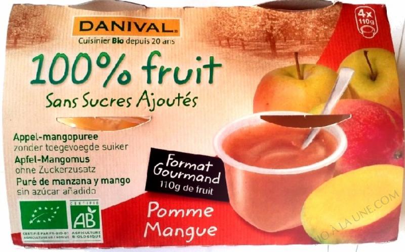 Puree Pommes mangues BIO 4 x 110g