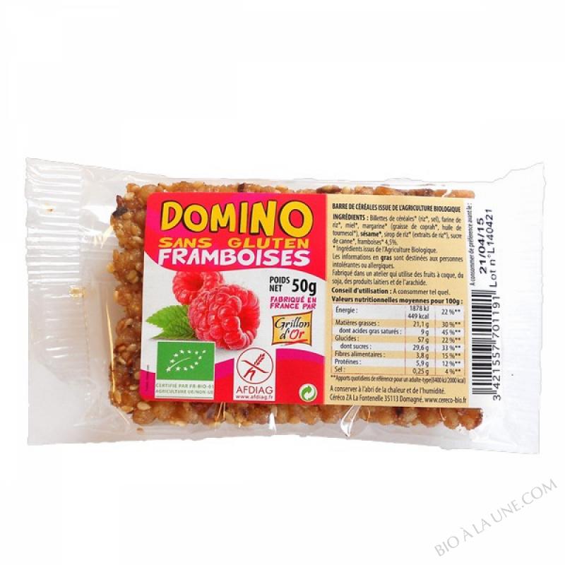 Domino sans gluten framboises 50g