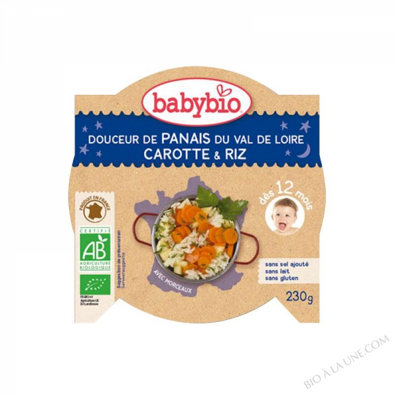 BABYBIO Assiette Bonne Nuit Panais Carotte Polenta