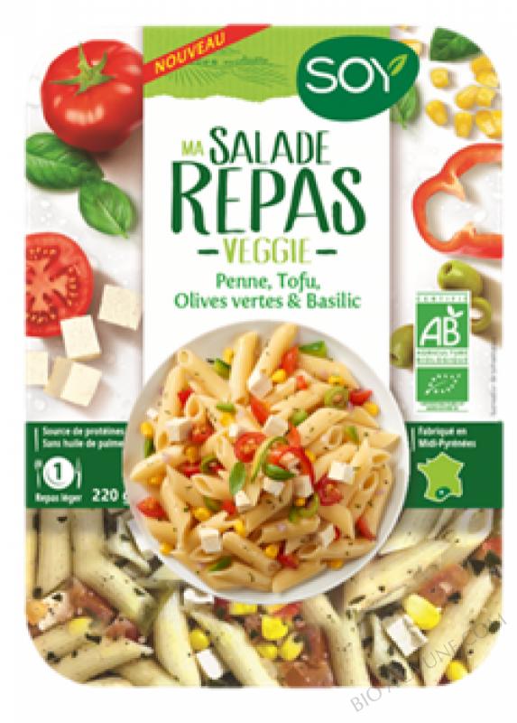 Salade Veggie - Pâtes Penne Tofou Tomate Basilic - 220 g