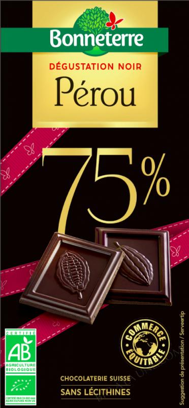 Chocolat Noir Sélection Pérou - 80 g  -
