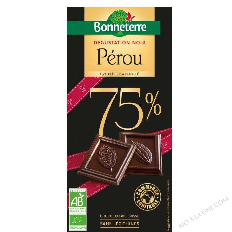 Dégustation Noir Pérou 75%