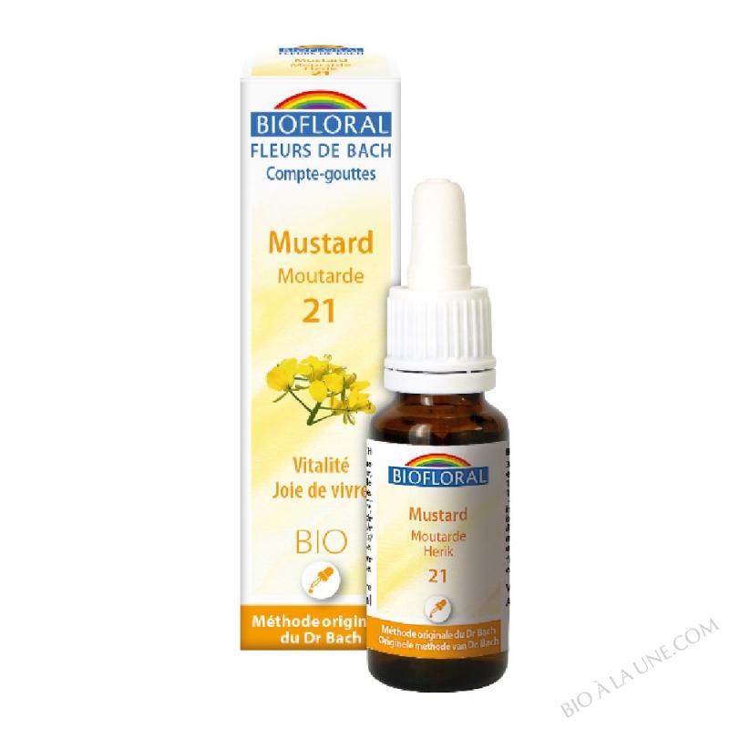 Fleurs de Bach 21 Mustar - Moutarde BIO DEMETER - 20 ml