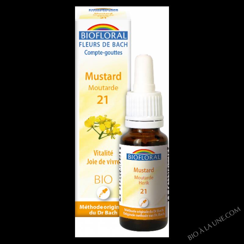 Fleurs de Bach 21 - Mustard, moutarde BIO DEMETER