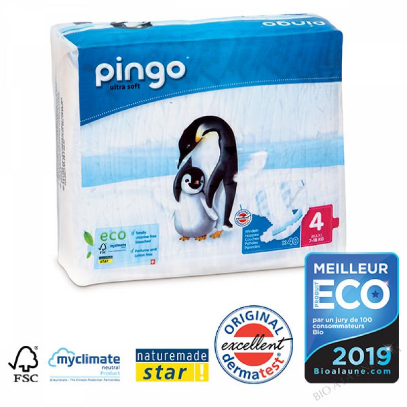 PINGO Couches Écologiques T4 MAXI (7-18kg)