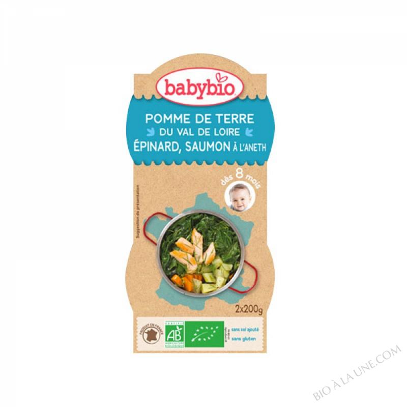 BABYBIO Bol Pomme de terre Epinards Saumon