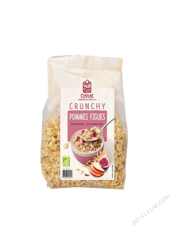 CELNAT Crunchy Pommes Figues BIO - 500g