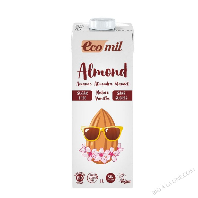 Lait d'amande vanille sans sucres Bio - 1L