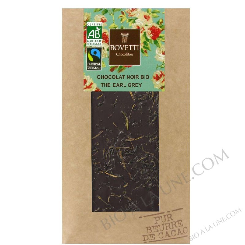 Chocolat noir bio au the Earl Grey 100g