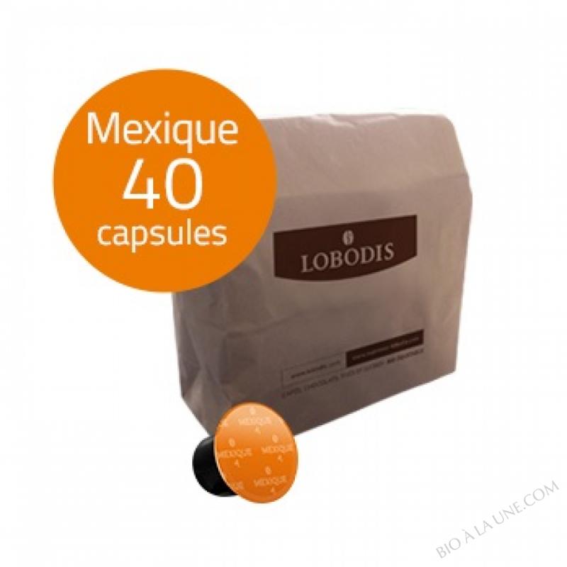 Capsules de café MEXIQUE compatibles Nespresso - Lobodis - 40 capsules