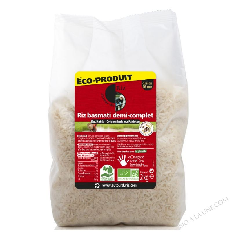 Riz basmati demi-complet - 2kg