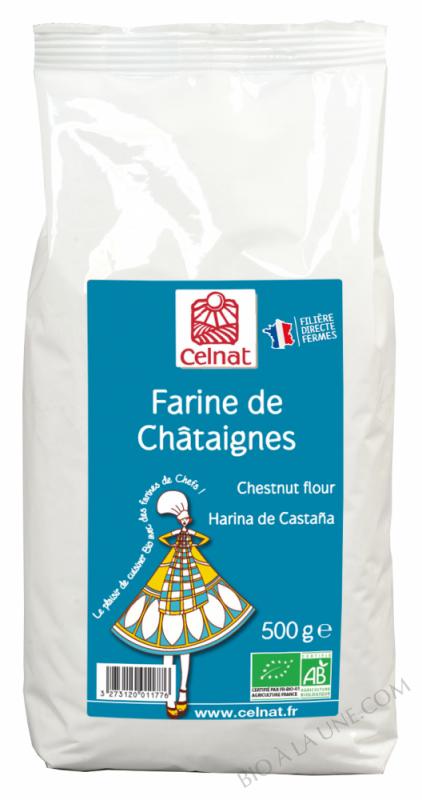 CELNAT Farine de Châtaignes - France BIO - 500G
