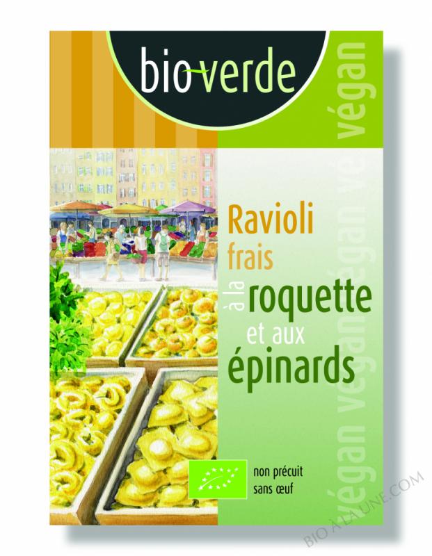 Ravioli Frais À La Roquette Et Aux Épinards - 250G